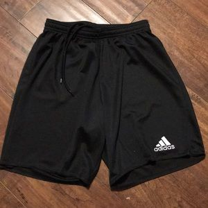 Adidas boys S black athletic shorts